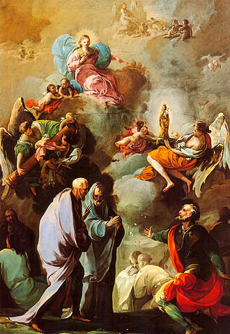 Our Lady of the Pillar - The Marian apparition to St. James the Greater (painting by Francisco Goya, c. 1769)