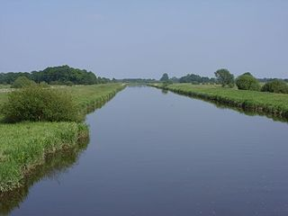 Aper Tief river in Lower Saxony, Germany