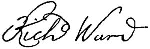 Richard Ward (governor) - Image: Appletons' Ward Richard signature