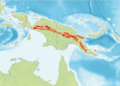 Approximate distribution of Morelia boeleni.png