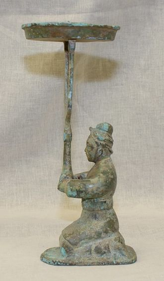 Legalism (Chinese philosophy) - Han state bronze candle holder
