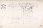 Architectural Sketch for the design of a Wall with Doorway, with two smaller sketches for the design of windows or doorways (recto); Sketches for a plan and partial perspective view of ceiling (verso) MET DP801674.jpg