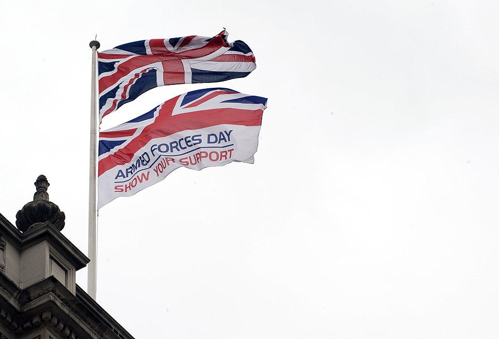 filearmed forces day flag over the cabinet office mod