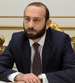 Armenian Speaker Ararat Mirzoyan, Yerevan, 25 November 2019 (cropped).jpg