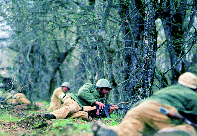 Armenian soldiers in northern Artsakh 1994
