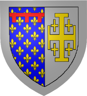 Charles, Duke of Calabria - Coat of arms of the House of Anjou-Naples.