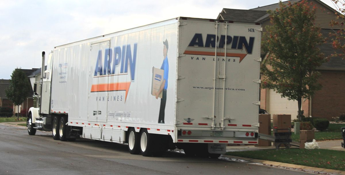 Px Arpin Van Lines Moving Van Superior Township Michigan