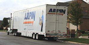 English: Arpin Van Lines moving van, Abigail D...