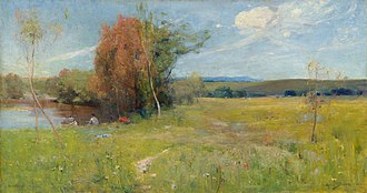 Arthur Streeton - Spring, 1890, National Gallery of Victoria