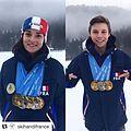 Arthur bauchet et Marie Bochet Médaille Tarvisio 2017.jpg