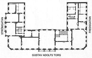 Plantegning af lejlighed 1 trappe.