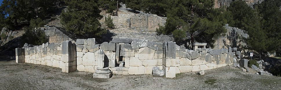 Arycanda Theatre panorama 3808