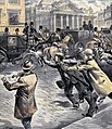 Assassination attempt on king Leopold II of Belgium in Bruxelles 1902.jpg
