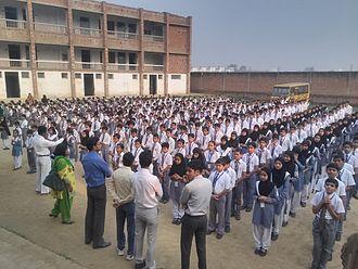 School assembly - School assembly in Pakistan