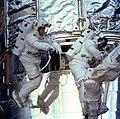 Astronauts C. Michael Foale and Claude Nicollier (27946755571).jpg