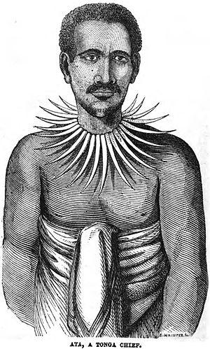 Fīnau ʻUlukālala - Image: Ata, a Tonga Chief (December 1853, X, p.132)