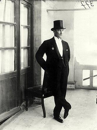 White tie - Image: Atatürk in white tie