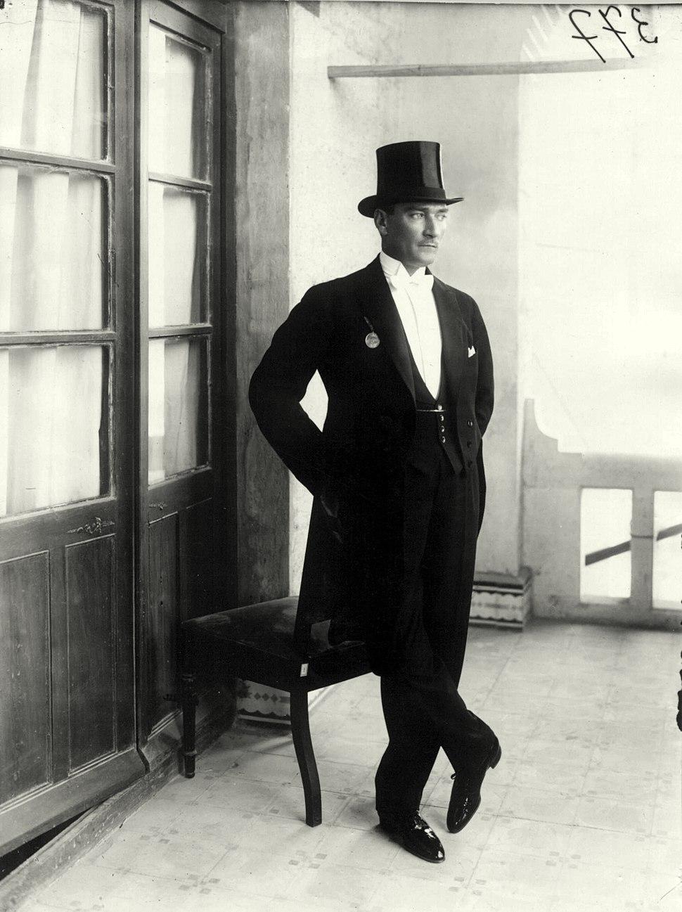 Atatürk in white tie