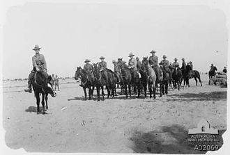 Auckland Mounted Rifles Regiment - Men from the regiment leaving their camp at El Arish