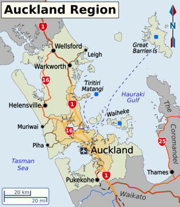 Auckland Region Travel guide at Wikivoyage