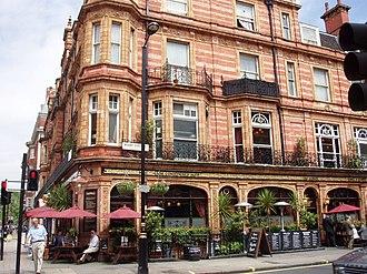 Mount Street, London - The Audley public house, Mount Street.