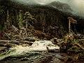 August Cappelen. Foss i nedre Telemark. 1852.jpg