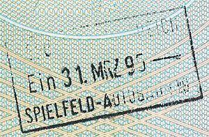 Spielfeld - Image: Austria spielfeld autobahn