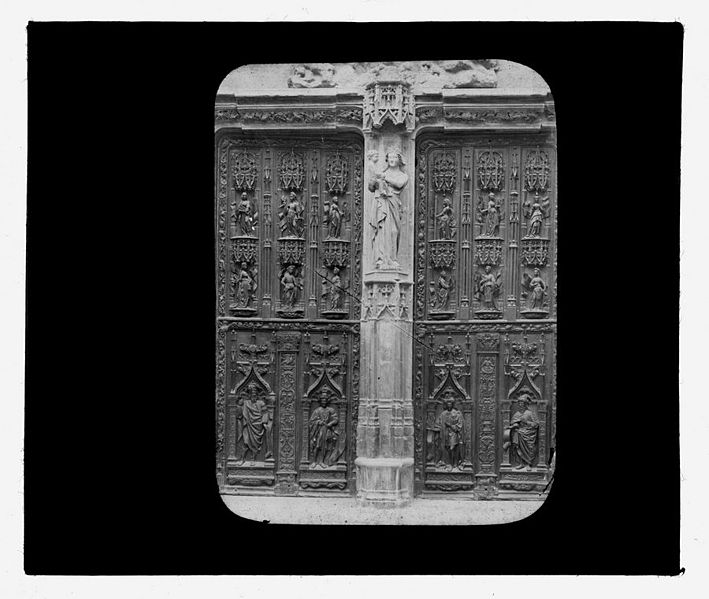 File avignon porte de l glise st pierre vierge par bernus fonds trutat - Porte saint dominique avignon ...