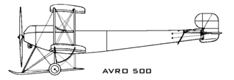 Avro 500 - Image: Avro 500 left