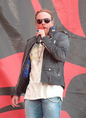 Axl Rose - Rose at the Download Festival in Donington Park, England, in June 2006