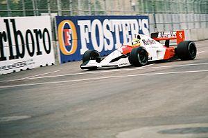 2015 FIA Formula One World Championship - Image: Ayrton Senna 1991 USA 2