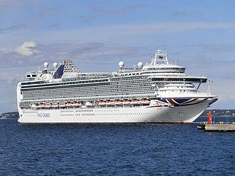 MS Azura - Image: Azura departing Port of Tallinn 12 June 2016