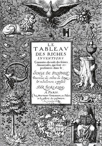 François Béroalde de Verville - Le tableau des riches inventions (1600)