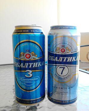 Baltika Breweries - Tins of Baltika (No.3 and No.7)