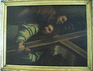 Jesus with the Cross Around his Neck
