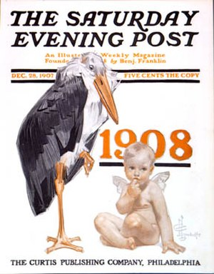 Baby New Year - 1908 Baby New Year on the cover of The Saturday Evening Post.