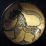 Bacino ceramico da facciata del duomo di s. miniato, nord-africa, 1190 ca. 09.JPG