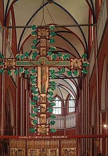 """ฉาก """"Holy Rood"""" ที่มหาวิหารโดเบอราน (Bad Doberan Cathedral) ประเทศเยอรมันี"""