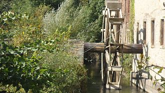 Bad Sobernheim - Former town mill – the millrace and the waterwheel