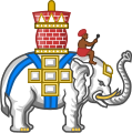 Badge of the Order of the Elephant (heraldry).svg