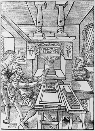 Jodocus Badius - Trademark of the Badius printing shop