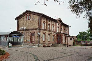Halle–Vienenburg railway - Image: Bahnhof Koennern 01