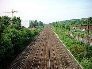 Hamm–Minden railway - Trunk line in Bielefeld