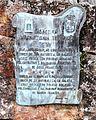 Baiona, Cruceiro da Santísima Trinidade, placa.JPG