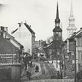 Bakke kirke, flytting av kirka inntegnet (1915).jpg