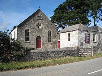 Baldhu - Baldhu Chapel, built in 1889 as Baldhu Wesleyan Chapel