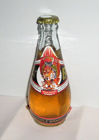 Alcohol in Indonesia - Eagle brand Balinese brem (5% alcohol).