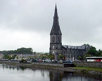 Ballina, County Mayo - St Muredach's Cathedral on the banks of the River Moy in Ballina