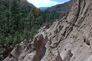National Register of Historic Places listings in Los Alamos County, New Mexico - Image: Bandelier tent rocks