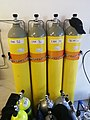 Bank of high pressure storage cylinders for nitrx and trimix decanting IMG 20190411 172351.jpg